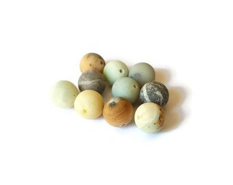 10 x Amazonite round beads