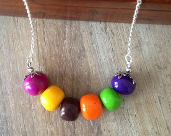 Jelly beans candy Necklace: