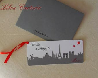 PARIS theme wedding thank you card