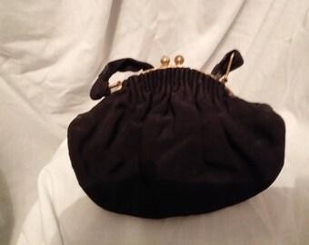 vintage black handbag
