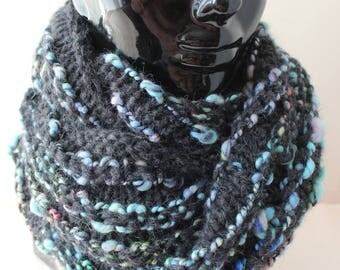 "Snood ""knitted"" alpaca and Merino Wool"