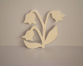 Lily of the Valley of mdf to customize, paint 11.5 cm x 10 cm