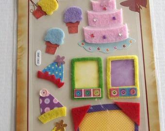 STICKERS in relief-themed birthday parties REF. 74339