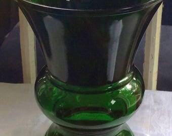 VINTAGE NAPCO GREEN Glass Vase