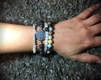 4 Layered Beaded Bracelet