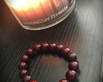 Fall Jade Beaded Bracelet