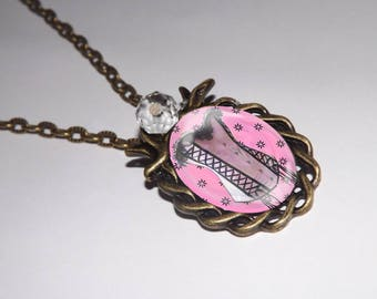 Pink corset cabochon NECKLACE