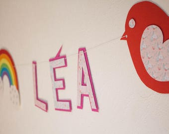 Banner name with Rainbow and bird