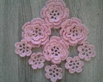 cotton crochet flowers