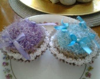 hand made crochet cupcakes