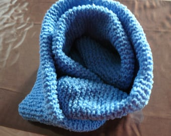 adult collar snood and hat set