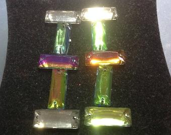 Lot 4 connector rectangular Prism multicolor
