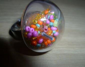 Cabochon glass multicocolore fun