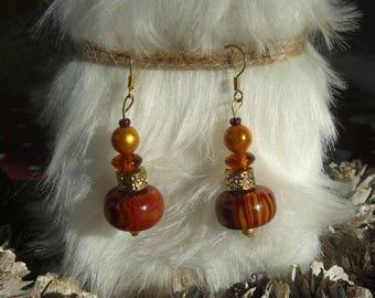 "Pearl Earrings ""voyage autumn"""