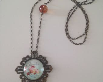 "Bronze necklace cabochon ""chocolate cupcake"""