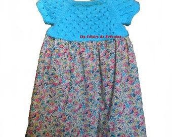 dress with yoke knitting pattern