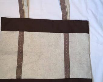 """Bag Tote everything """"brown gold braid"""" is hand"""