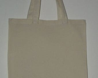 Bag customize long 100% cotton, white ivory handles