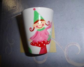 The IMP Sidoline painted porcelain mug