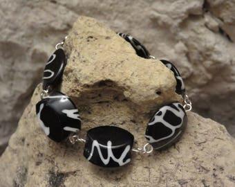 "Stylish bracelet ""collection black & white"""