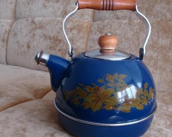 Vintage Russian teapot Soviet teapot Russian souvenir Metal teapot Vintage tea kettle Vintage tea pot Vintage kitchen Home Sweet Home