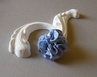 Blue cold porcelain flower