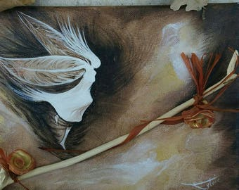 """Original painting titled """"steal my fairy""""."""