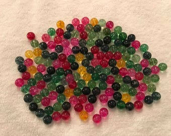 Colored glass 10mm beads