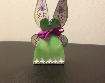 Dragees boxes green & Purple Fairy Princess