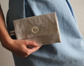 Cotton party clutch bag