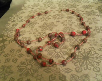 beautiful unique original necklace gray pink and glitter