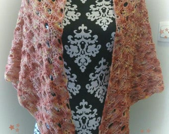 Handmade crochet shawl.
