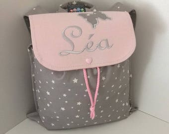 Backpack child personalized (name, pattern) size 2/3 years 1 Butterfly pattern