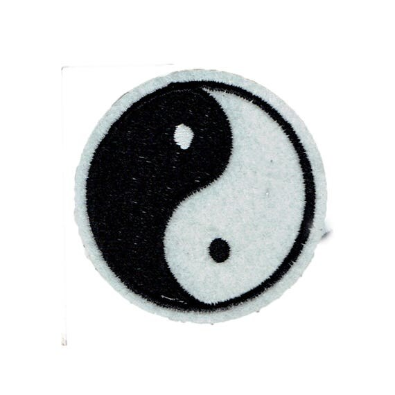 """Patch fusible pattern """"Ying and yang"""""""