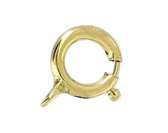 6mm - gold plated (10pcs) spring ring clasp