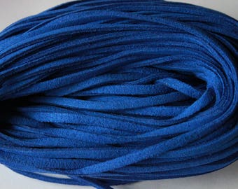 Suede cord, blue, 1 m