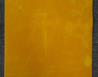 Leaf transfer effect yellow velvet 255 x 200 mm