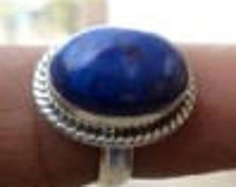Lapis lazuli  ring , 925 sterling silver ring , Handmade ring