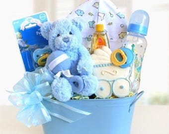 Baby Boy Welcome Baskets
