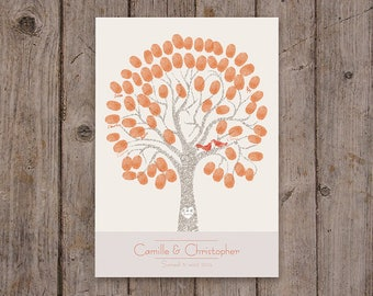 Fingerprint wedding tree / A3 297x420mm / 50-70 signatures
