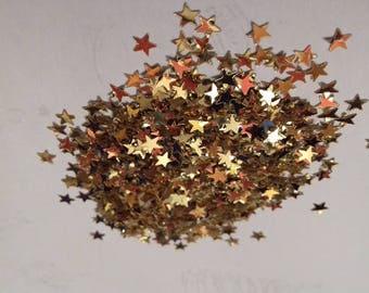 set of mini confetti gold gold stars