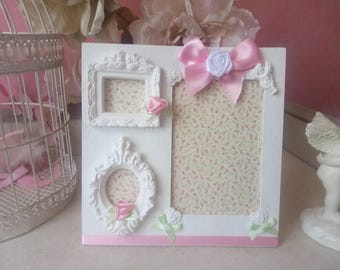 Shabby chic and romantic picture holder