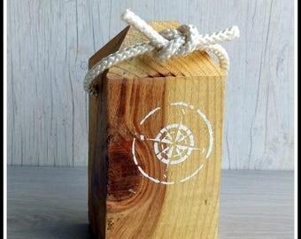 Decorative wooden fishing buoy