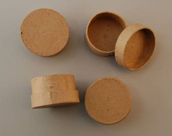 Lot 4 small 5 x 2.5 cm - Ref 16711/024VAE26RO round boxes (box round)-while stock last!