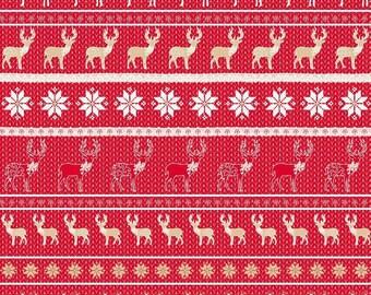 Leaf Decopatch 30 x 40 cm - reindeer and snowflakes N 611 - Ref FDA611 (great Christmas)