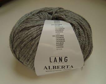 ALBERTA Lang - 50 g - wool and cashmere - 4, 5-5 needles - grey wool
