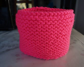 Pink Snood or neck warmer