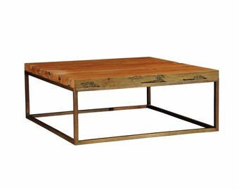 Square coffee table live edge