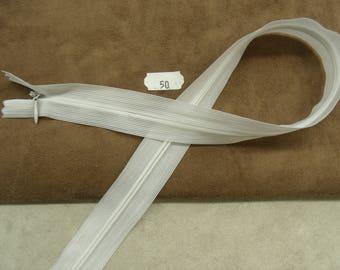 HIDDEN zip - 50 cm - white