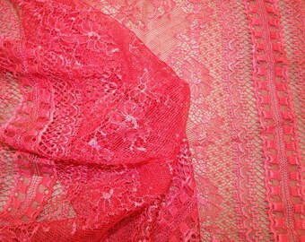 CALAIS lace - very soft red